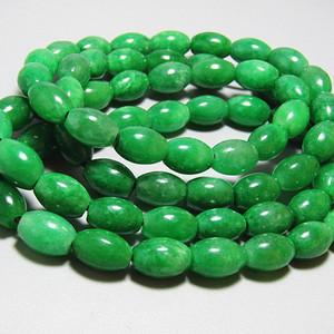 老坑 翡翠 满绿 橄榄珠 珠串项链