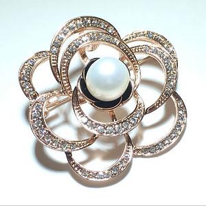 英国回流 天然珍珠 花朵胸针 挂件