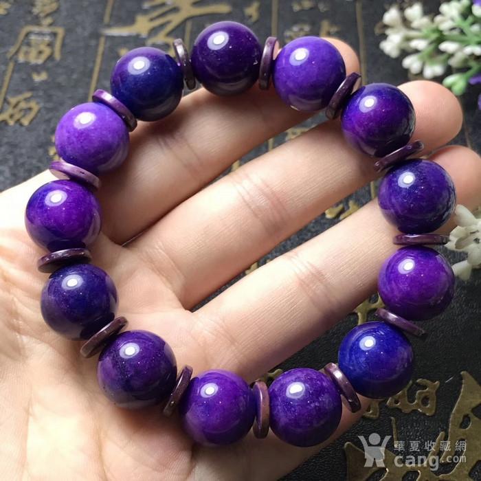 南非国宝,抗癌宝石,老料舒俱来,皇家紫手链!色泽油润,光泽度强!苏纪石图1
