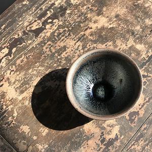 当代建窑大师手作茶盏一只