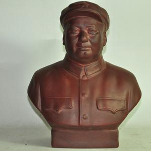 70 80年代毛主席紫砂塑像