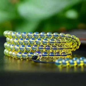 多米尼加顶级天空蓝蓝珀,108颗手链 项链两用款。纯手工打磨,无杂无裂