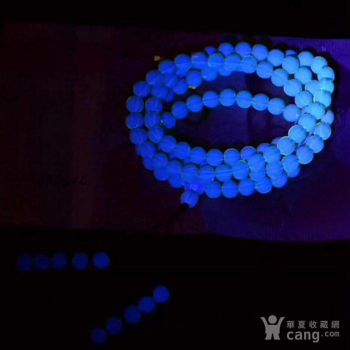 多米尼加顶级天空蓝蓝珀,108颗手链 项链两用款。纯手工打磨,无杂无裂图5