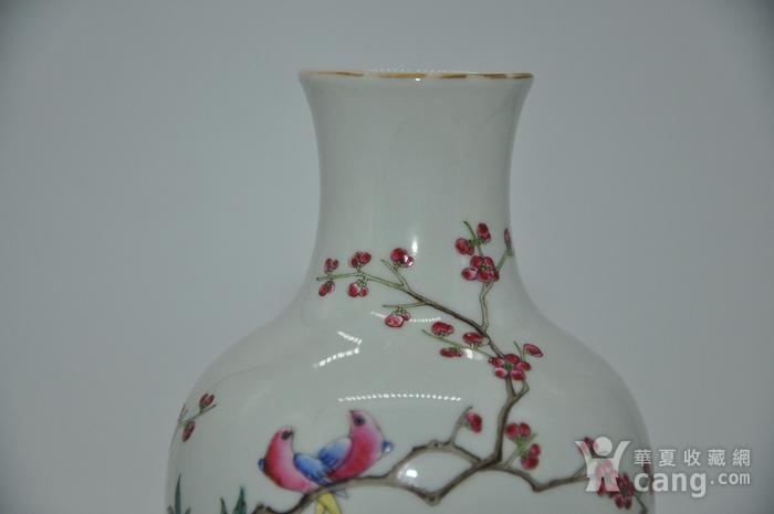 花鸟粉彩瓷瓶图4