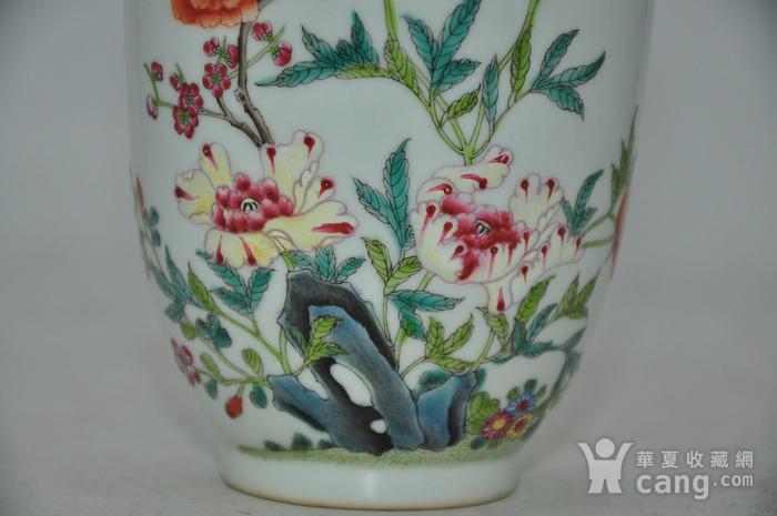 花鸟粉彩瓷瓶图6