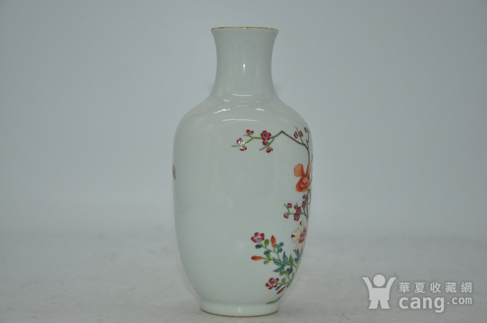 花鸟粉彩瓷瓶图3