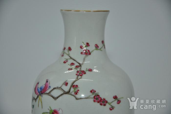 花鸟粉彩瓷瓶图7