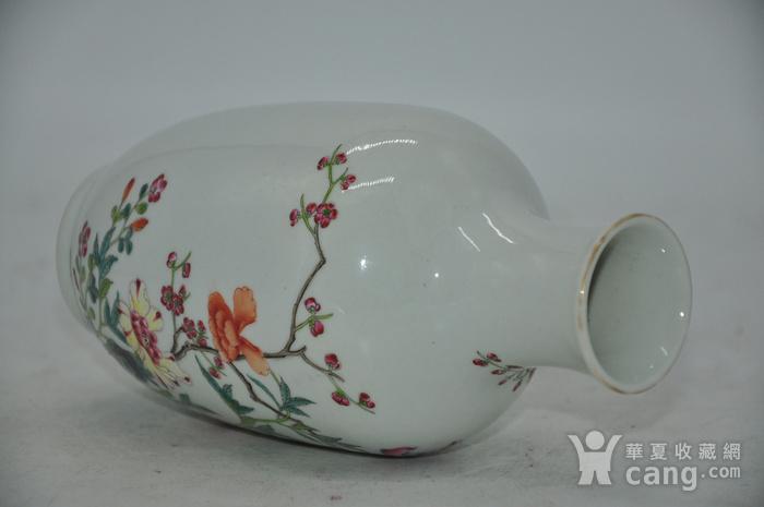 花鸟粉彩瓷瓶图9