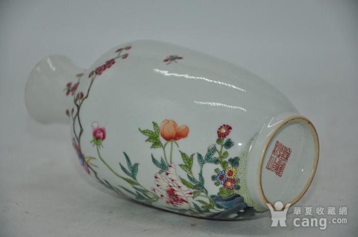 花鸟粉彩瓷瓶图11
