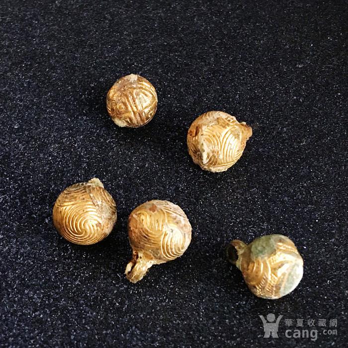 清 精品铜鎏金扣子一套图2