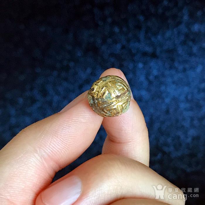 清 精品铜鎏金扣子一套图5