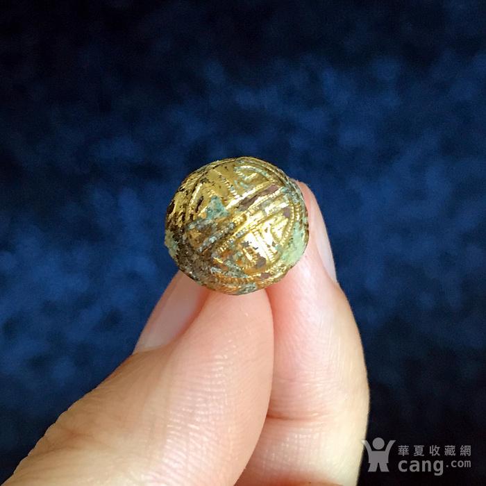 清 精品铜鎏金扣子一套图6