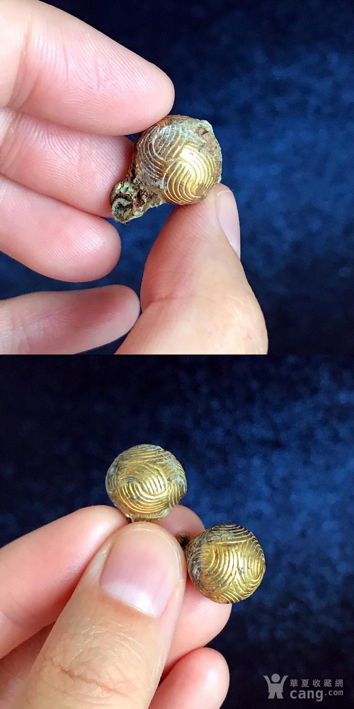 清 精品铜鎏金扣子一套图7