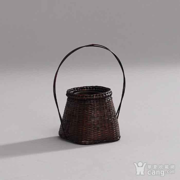 日本回流 精品竹编小花篮一只图1