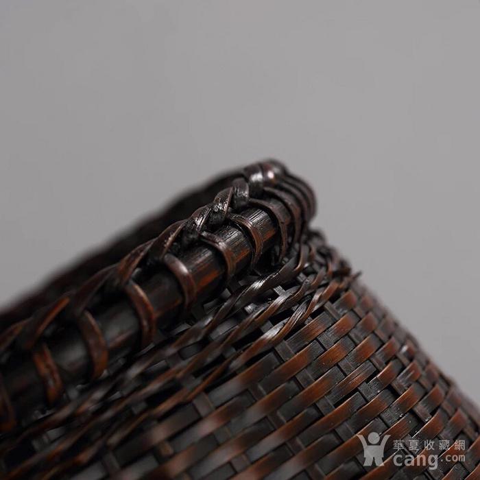 日本回流 精品竹编小花篮一只图3