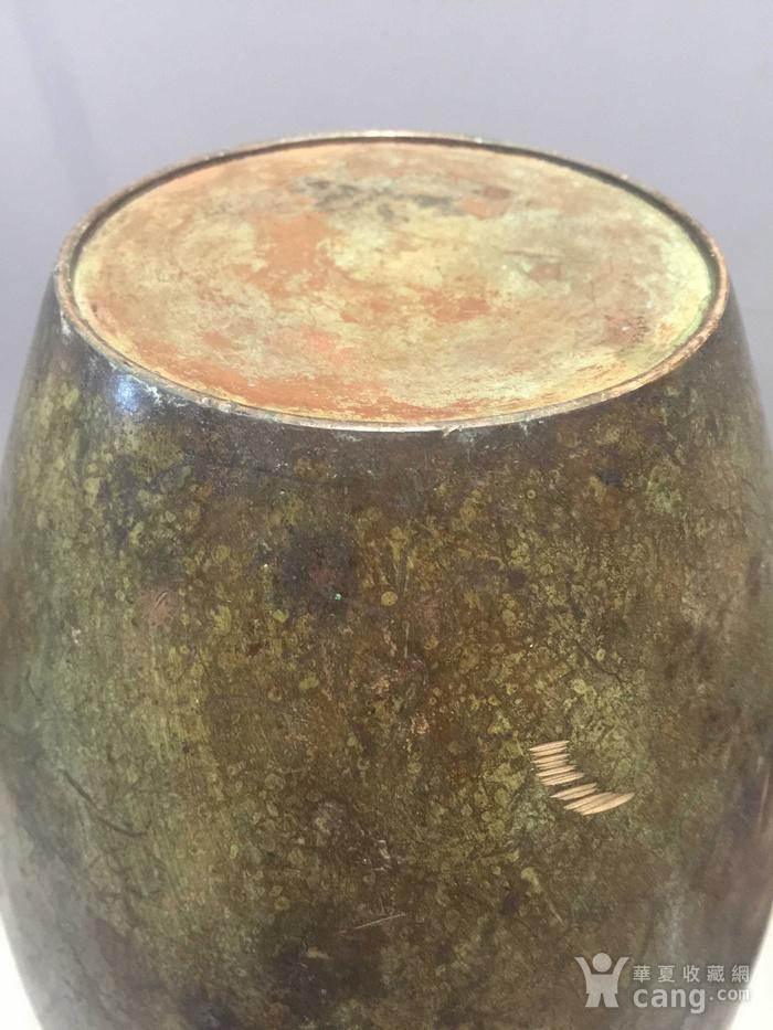 龙凤纹铜橄榄尊图7