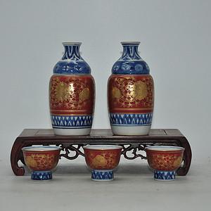 日本九谷陶源酒具