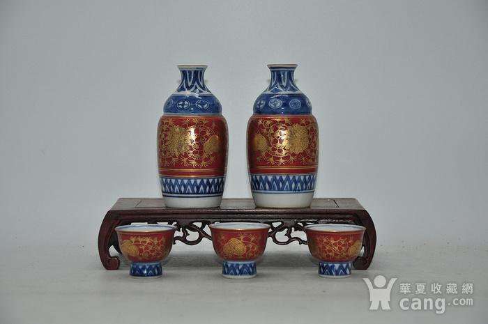 日本九谷陶源酒具图1
