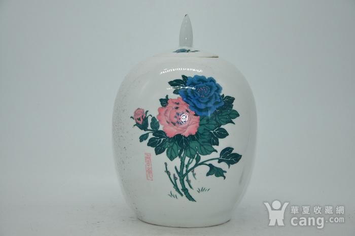几十年醴陵釉下彩贴花瓷罐图1