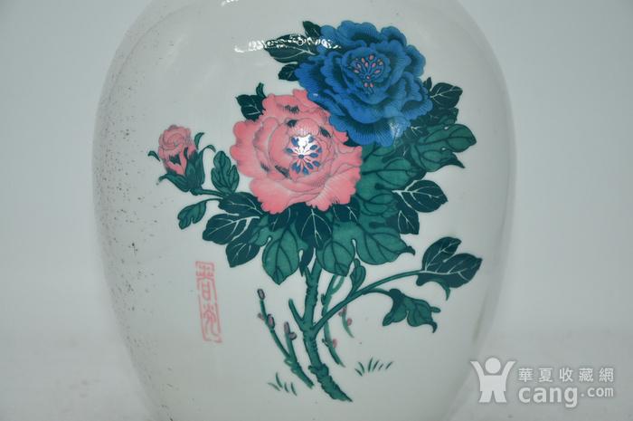 几十年醴陵釉下彩贴花瓷罐图2
