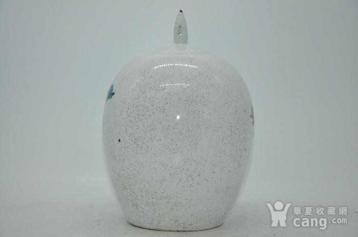 几十年醴陵釉下彩贴花瓷罐图4