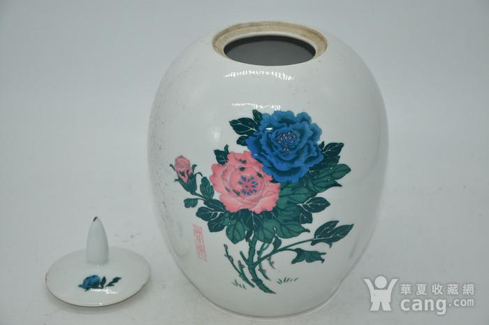 几十年醴陵釉下彩贴花瓷罐图7
