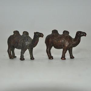 日本茶道香道用品铸铜小骆驼