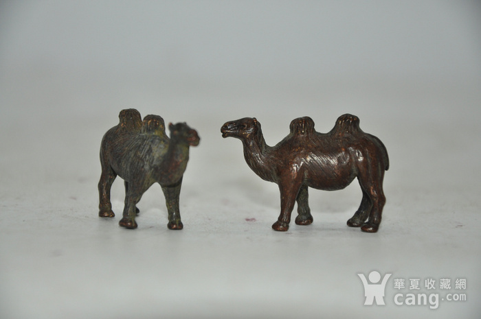 日本茶道香道用品铸铜小骆驼图3