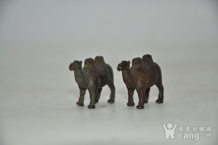 日本茶道香道用品铸铜小骆驼图5