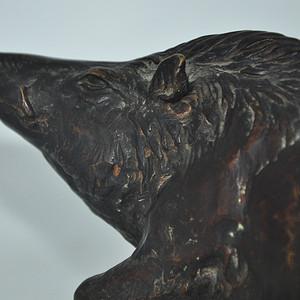 日本铸造几十年铜野猪