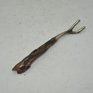 日本纯铜茶道挑壶盖用具