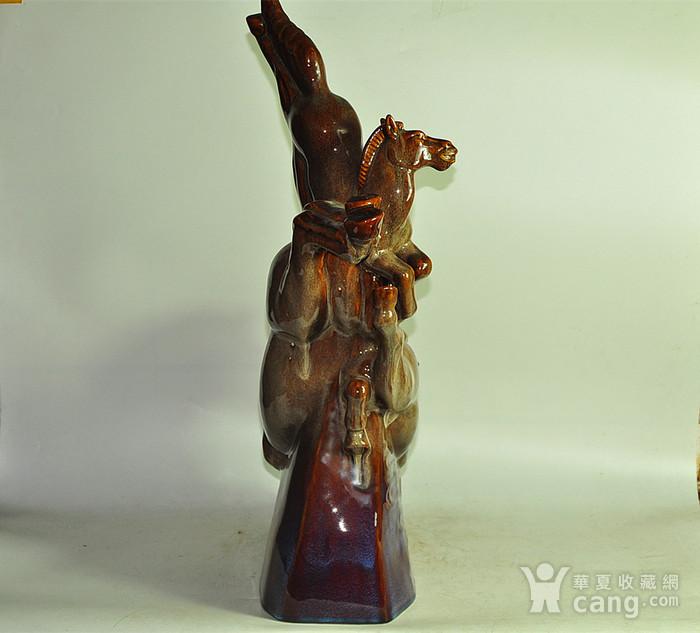 80年代博山窑大型瓷塑马图4