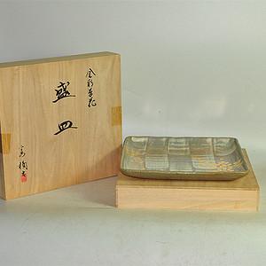 日本橘吉金彩瓷盘