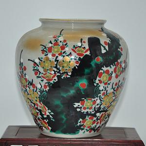 日本九谷喜昭款花瓶