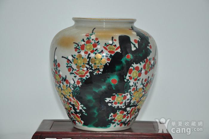 日本九谷喜昭款花瓶图1