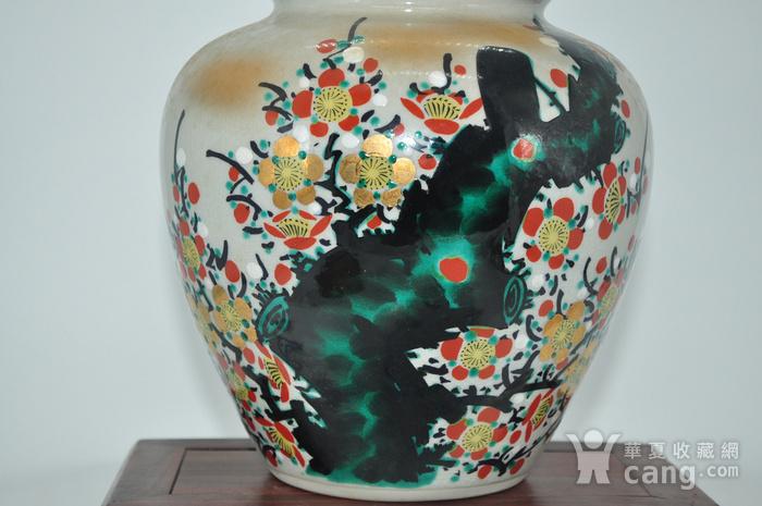 日本九谷喜昭款花瓶图3
