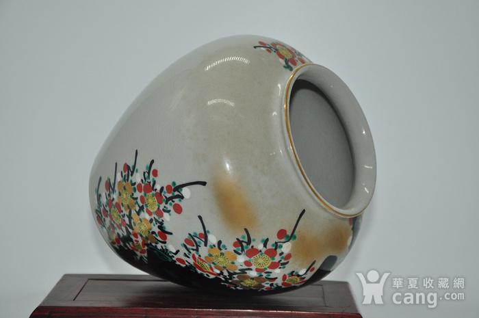 日本九谷喜昭款花瓶图5