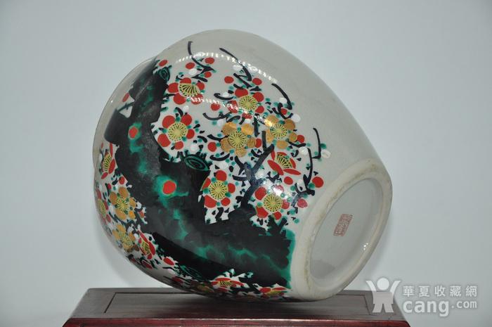 日本九谷喜昭款花瓶图8