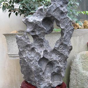 天然灵璧奇石摆件