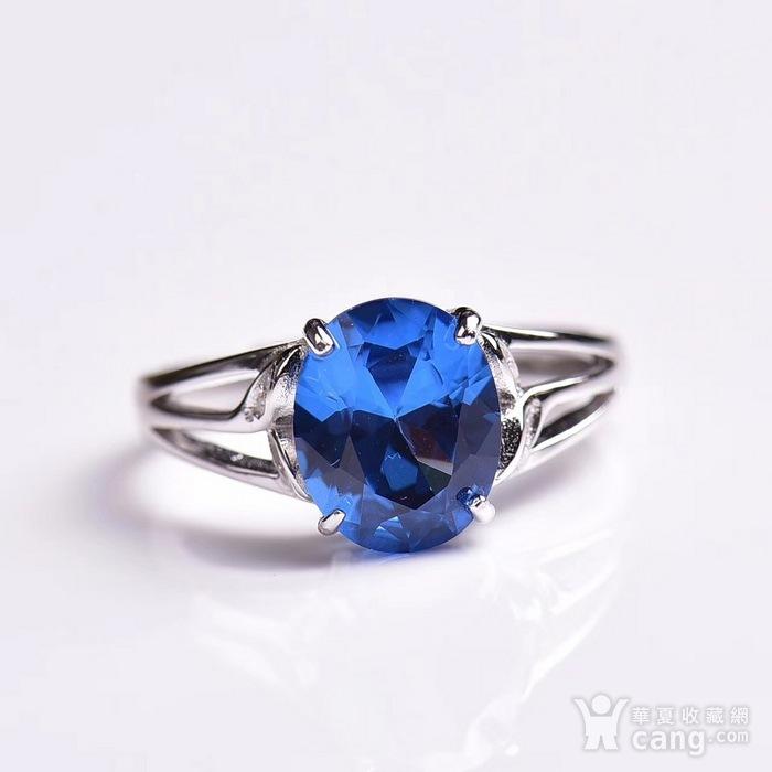 炫彩瑞士蓝托帕石戒指图2