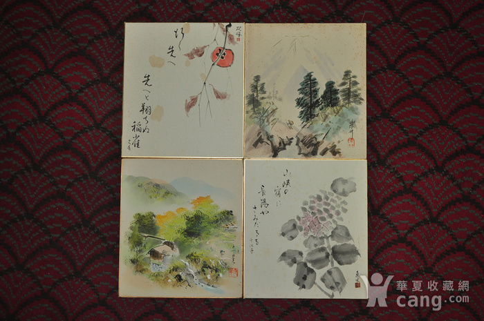 日本粉彩水墨画图1