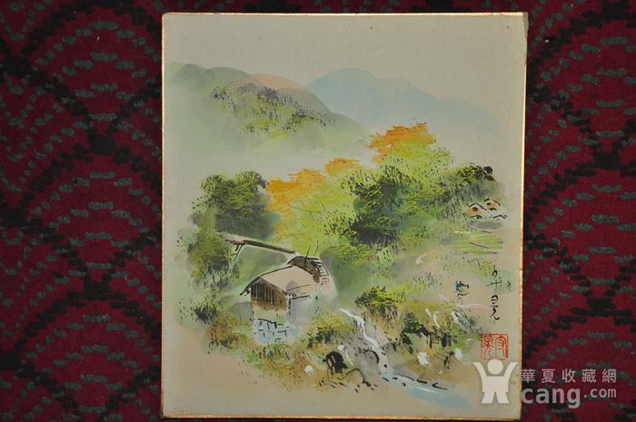 日本粉彩水墨画图7