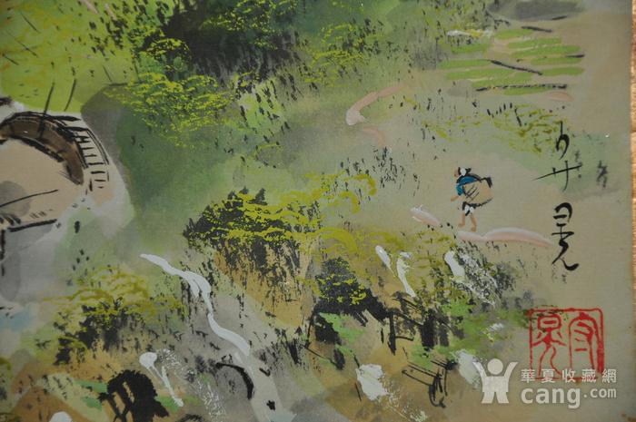 日本粉彩水墨画图8
