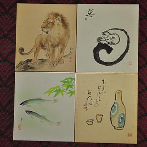 日本画四幅