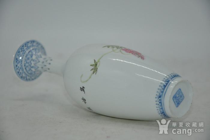 花鸟粉彩薄胎小瓷瓶图11