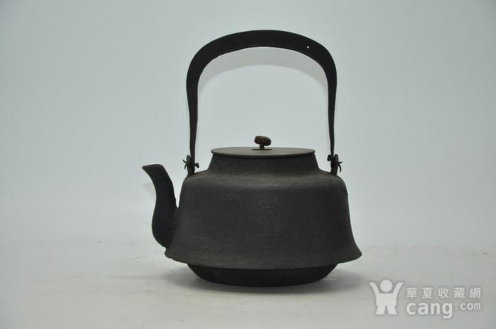 日本龙文堂铜盖铁壶图4