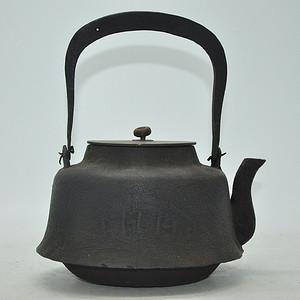 日本龙文堂铜盖铁壶