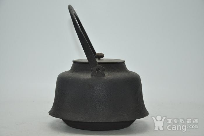 日本龙文堂铜盖铁壶图7