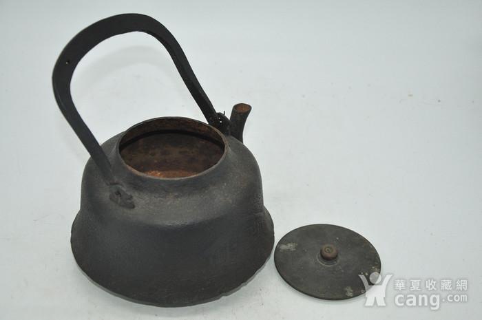 日本龙文堂铜盖铁壶图8