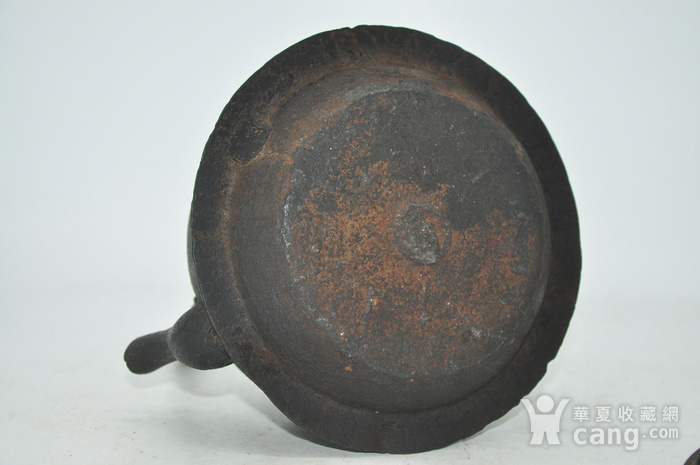 日本龙文堂铜盖铁壶图10